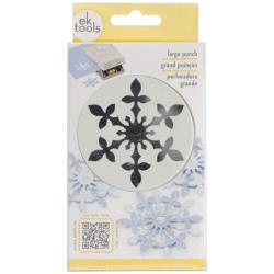 E5430192 Large Punch Vintage Snowflake, 2.5""