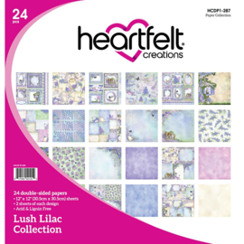"""255032 Heartfelt Creations Double-Sided Paper Pad  Lush Lilac 12""""X12"""""""