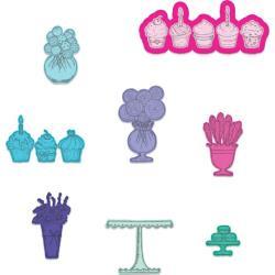 "584595 Heartfelt Creations Cut & Emboss Dies Sweet Shoppe Treats .75"" To 2"""