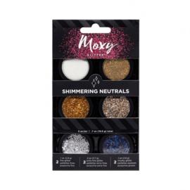 346695 American Crafts moxy glitter x6 shimmer neutrals