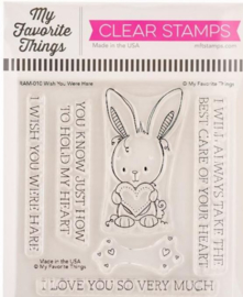 """RAM010 My Favorite Things Clear Stamps Wish You Were Hare 4""""X4"""""""