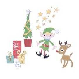 664495 Sizzix Thinlits Die Set Santa's Workshop Pete Hughes
