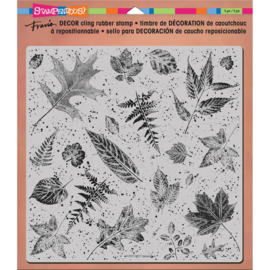 "018223 Stampendous Decor Cling Stamp Leaves 10""X8.75"""