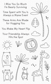 CS-526 My Favorite Things Sweet Safari Clear Stamps