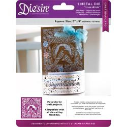 "375994 Die'ssire Create-A-Card Interchangeable Die Love Birds, 5""X5"""