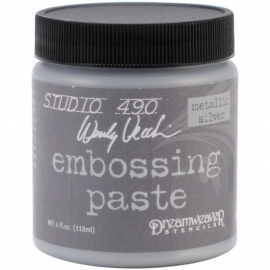 276918 Studio 490 Embossing Paste Silver