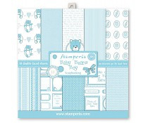 SBBL20 Stamperia Blue Baby Bear 12x12 Inch Paper Pack
