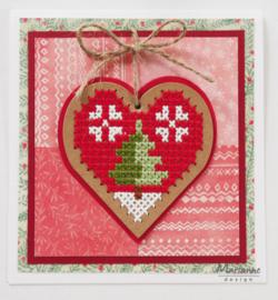 CR1482 craftables Cross Stitch Heart