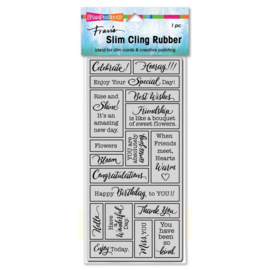 663637 Stampendous Cling Stamp Slim Boxed Celebrate