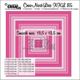 115634/0185 Crealies Crea-Nest-Lies XXL no 85 gladde vierkanten halve cm