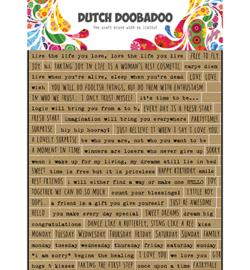 491.200.018  Dutch DooBaDoo Dutch Sticker Art Text English