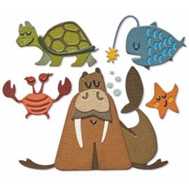 665378 Sizzix Thinlits Dies By Tim Holtz Under The Sea #2 Colorize 23/Pkg
