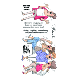 251868 Art Impressions Clear Stamps Live Laugh Love