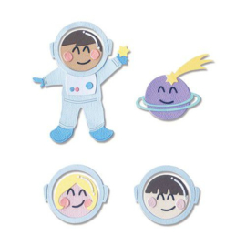 665090 Sizzix Thinlits Die Set - 13PK Astronaut (Works with 663559) Olivia Rose