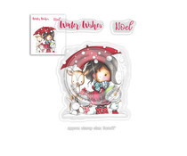 PD7960Polkadoodles Winnie Winter Wishes Clear Stamps