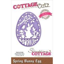 126959 CottageCutz Elites Die Spring Spring Bunny Egg