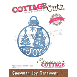 "CCE584 CottageCutz Elites Die Snowman Joy Ornament 2.8""X3.5"""