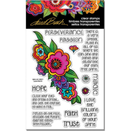"247910 Stampendous Perfectly Clear Stamps Rubber Floral Reflections 7.25""X 4.625"""