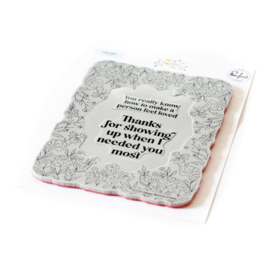 PF121121 Pinkfresh Studio Cling Rubber Background Stamp Set Happy Blooms FrameA2
