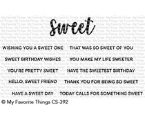 CS-392 My Favorite Things Sweet Sentiments Clear Stamps