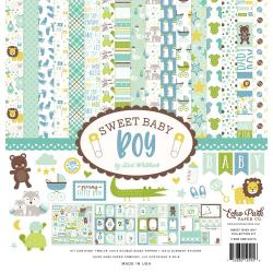 "330298 Echo Park Collection Kit Sweet Baby Boy 12""X12"""