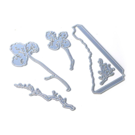 EC1823 Elizabeth Craft Metal Die Florals Of Winter