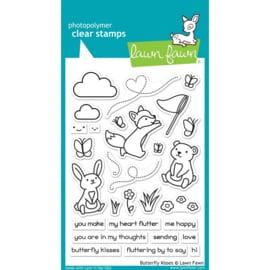 "LF1882 Lawn Fawn Clear Stamps Butterfly Kisses 4""X6"""
