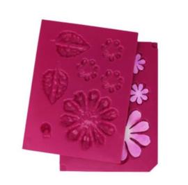 HCFB1 491 Heartfelt Creations Shaping Mold Summer's Garden -3D Large Zinnia