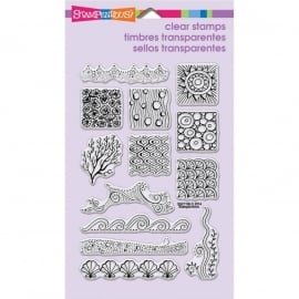 429777 Stampendous Perfectly Clear Stamps Penpattern Seaside