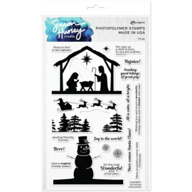 """HUR78951Simon Hurley create. Clear Stamps Christmas Silhouettes 6""""X9"""""""