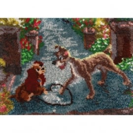 ** Latch Hook Kit Lady And The Tramp
