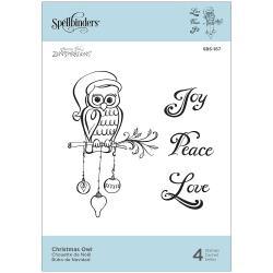 SBS167 Spellbinders Cling Stamps Christmas Owl