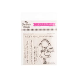 "PI312 My Favorite Things Pure Innocence Stamps Sweet Christmas Wishes 4""X4"""