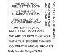 CS-285 My Favorite Things From All of Us Clear Stamps