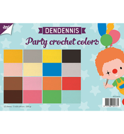 6011/0554 Dendennis Party crochet colors Papier Set A4