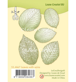 55.4667 Leane Creatief Clear Stamp Leaves with veins
