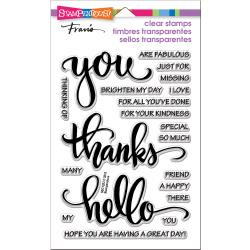 449125 Stampendous Perfectly Clear Stamps Big Words Thanks