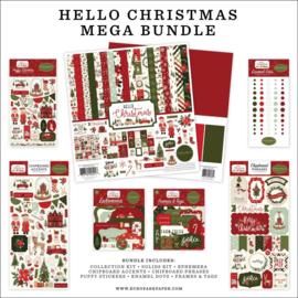 "635022 Carta Bella Mega Bundle Collection Kit Hello Christmas 12""X12"""