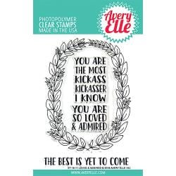 "304298 Avery Elle Clear Stamp Set Loved & Admired 4""X6"""