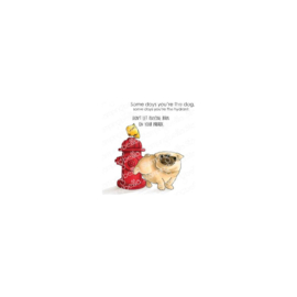 600735 Stamping Bella Cling Stamps The Pug & The Hydrant