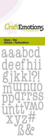 115633/0262 CraftEmotions Die alfabet typewriter kleine letters Card