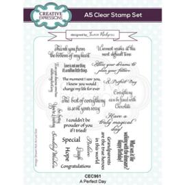 CEC961 Creative Expressions Clear stamp set Een perfecte dag