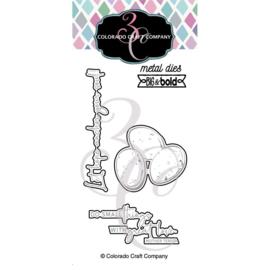 653837 Colorado Craft Company Metal Die Set  Robin's Nest-Big & Bold