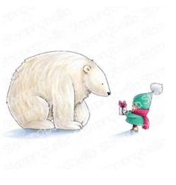 606568 Stamping Bella Cling Stamps Bundle Girl W/Polar Bear