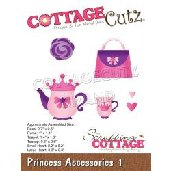"CCE611 CottageCutz Dies Princess Accessories 2 .6"" To 2.3"""