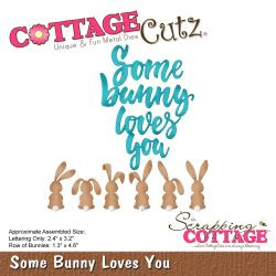 "CC419 CottageCutz Die Some Bunny Loves You 1.3"" To 4.6"""