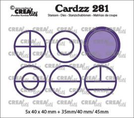 CLCZ281 Crealies Cardzz Elements Cirkels