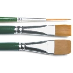 136349 One Stroke Brush Set 3 st.