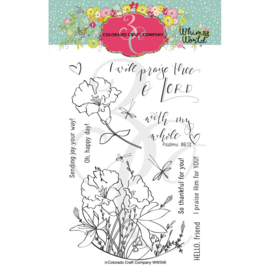 "C3WW346 Colorado Craft Company Clear Stamps My Whole Heart-Whimsy World 4""X6"""