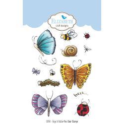 CS040 Elizabeth Crafts Clear Stamps Bugs & Butterflies